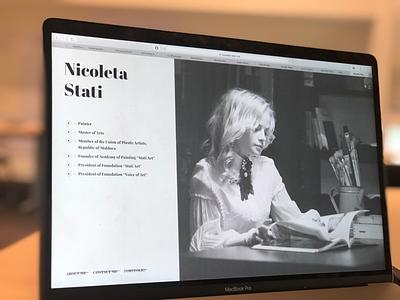 Nicoleta Stati. Homepage artgallery bw monochromatic artist personal website home gallery art
