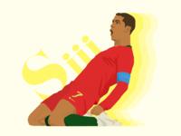 "Ronaldo says ""Si!!!"""