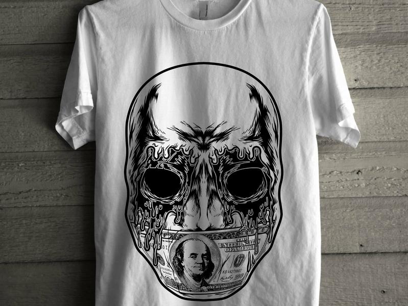 zombiebangbang2 branding apparel graphics zombie apparel design merch skull skeleton dark tshirt tees artwork illustration