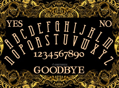 ouija sample with font