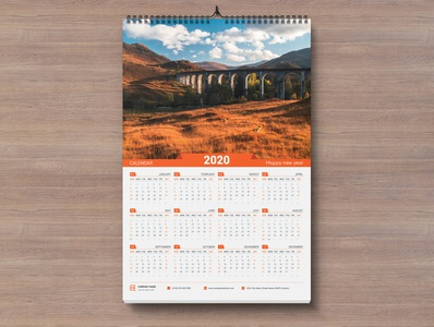 One Page Wall Calendar 2002