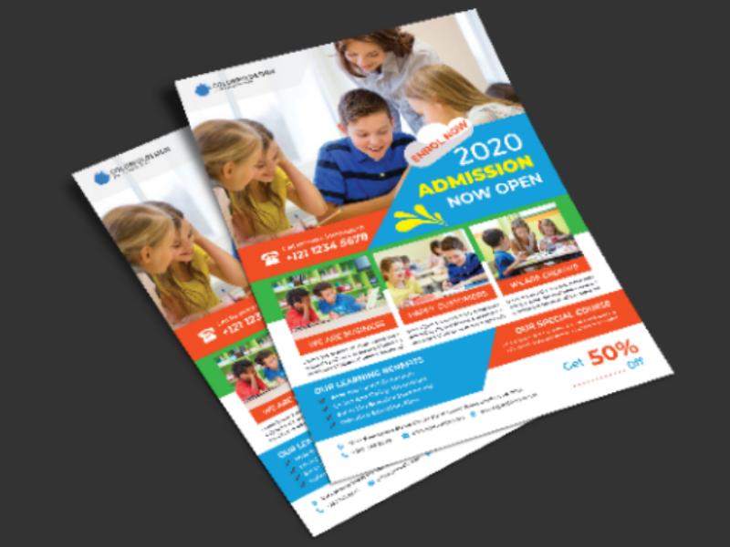 School Flyer template school flyer education