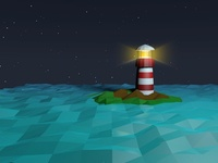Lighthouse into the space