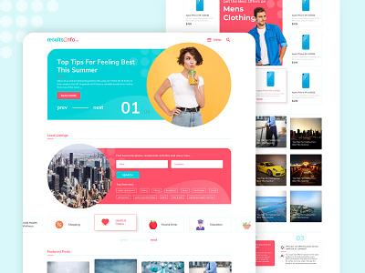ResultsInfo.net (Hybrid Landing Page 2) page landing webpage graphic design ecommerce shop blog vector logo ui illustration typography branding web website ux design