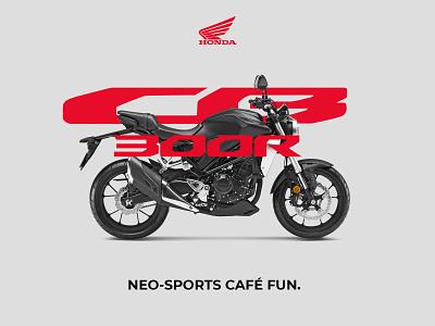 Honda CB300R branding photoshop design banner cafe racer motorcycle cb300r honda honda cb300r
