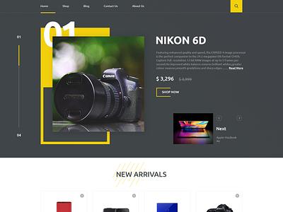 E-Commerce Website 3 shopping shop web design webpage icon e-commerce banner website ux web ui typography design