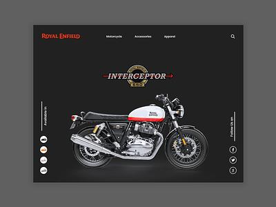 Royal Enfield Landing Page logo photoshop banner graphicdesign branding website web ux ui typography design