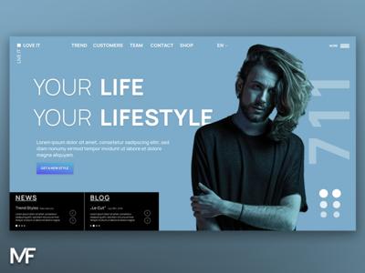design / hair stylist / fashion design web webdesign landingpage fashion stylist hair