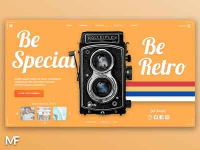 Retro Design pictures camera orange color art design webdesign retro