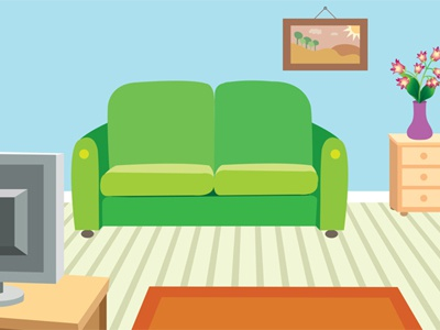 Living Room Vector Illustration minimal illustration domestic architecture relax minimalism comfortable indoor floor style couch apartment living decor design vector home interior room sofa