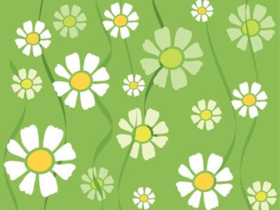 Seamless Daisy Pattern Vector green garden decorative art wallpaper design textile summer spring nature vector fabric floral texture illustration daisy flower seamless background pattern