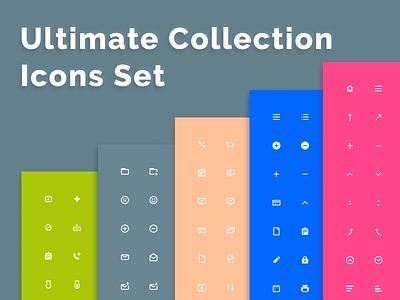 Ultimate Collection Icons Set freebee design ui custom exclusive ultimate collection pack set icon adobe sketch figma freebie xd freebies free