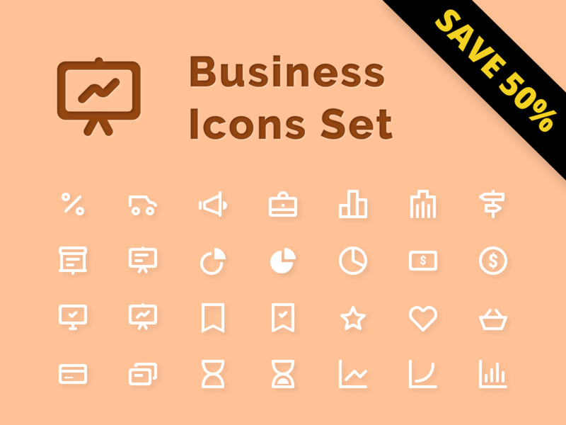 Business  Icons Set - Sale 50%