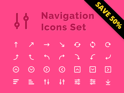 Navigation Icons Set outline sale dashboard free figma resourses icon control navigation