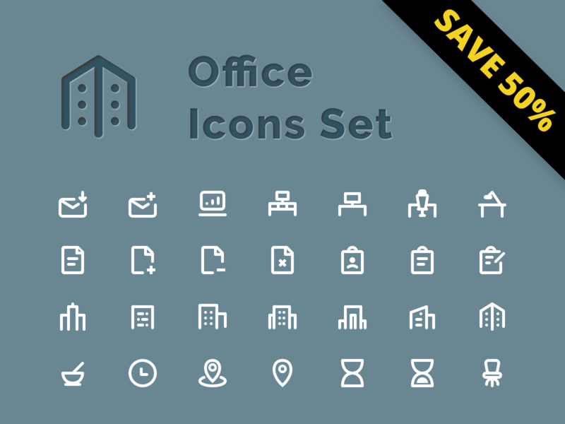 Office Icons Set - Save 50%