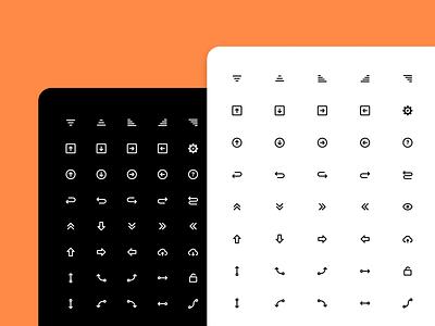 Navigation icons set - part II saas apps adobexd adobe sketch figma panel admin скачать иконки pictogram design ui icons dashboard