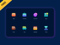 Huzzah! adobexd sketch flare shine glass iconpack iconset icons figma freebie free