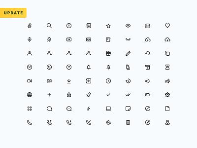 Messenger Icons Set - Update! minimal adobexd pack set bot chat app chatbot communication messenger message chat icon kit free ui figma app sketch icons