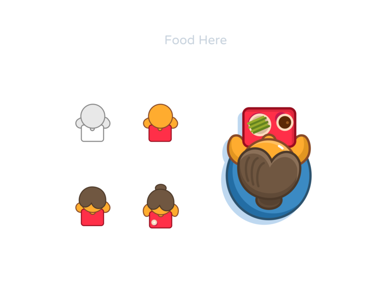 Food Here figmdesign go fast icons illustration view top here eat order foor