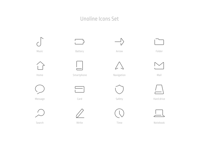 Free - Unoline Icons Set download freebie free pack essential stroke live outline set icons line one oneline