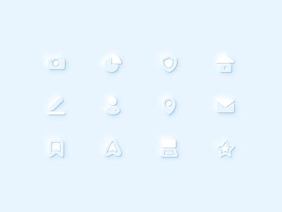 Neumorphiс  icons ui icons design soft shadow volume vector figma neumorphic neuomorphism iconset figmadesign icon design business pack set icons