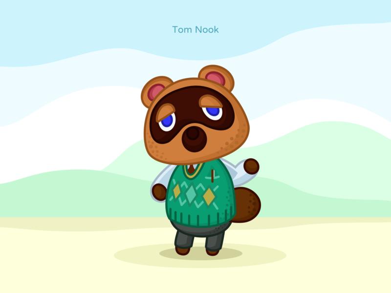 Tom Nook figmafesign svg vector game switch nintendo crossing animal nook tom
