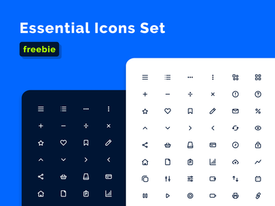 Free icons should be more and more! essential kit invision sketch adobe figma freebies premium download iconset box pack set icons icon brand logos freelance freebie free