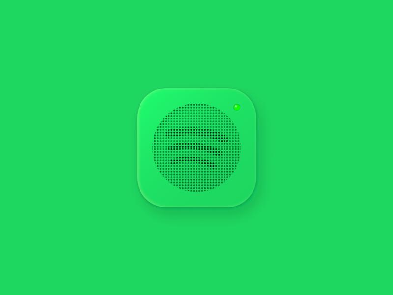 Spotify icon iconography figmadesign vector design icon design voice music speaker sound spotify icon