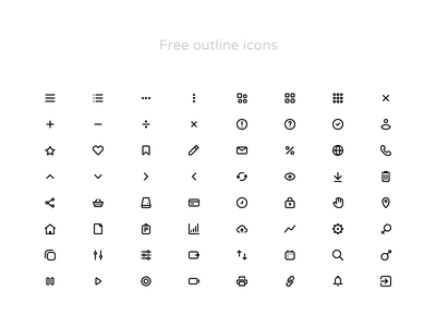 Free popular outline icons svg figma vector outline figmadesign icondesign iconset icons essential freebie free