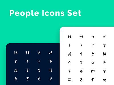 OMG - i uploaded new set! svg figma iconjar figmadesign icondesign icons people