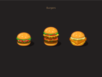 Burgers cheeseburger sketch vector figma illustration icon icons design cartoon icons set figmadesign burgers icons