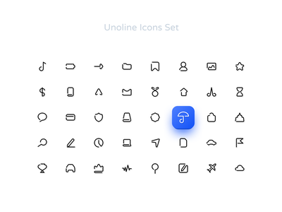 Unoline Icons Set - save 50% iconjar adobexd invision sketch vector icon ui demo free essential business livestroke stroke lines oneline figmadesign figma icons