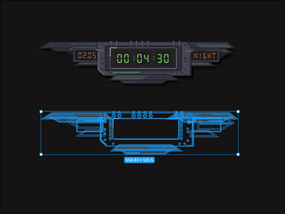 Time ui for game project 2d elements date clock timer time game design game art vector figma uiux ui design uidesign gameui gameart game