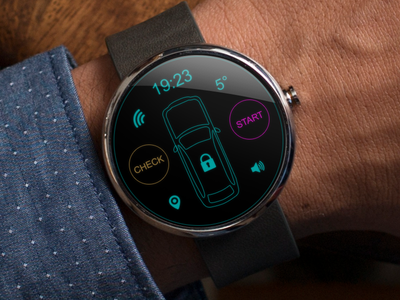 Moto 360 Car alarm app moto moto360 android wear concept car app alarm 360 watch clock google