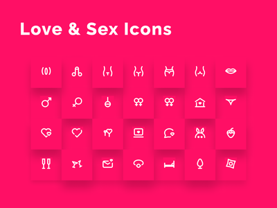 Love & Sex Icons Set female male valentine day valentine emotion erotica pose sexual assault tits collection romantic wc vagina penis adult pron sexual sex love icons