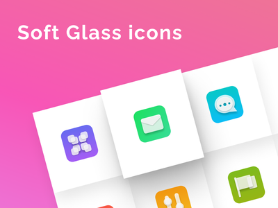 Soft Glass icons vector icons pack figmadesign design ui neuomorphism glass soft icons