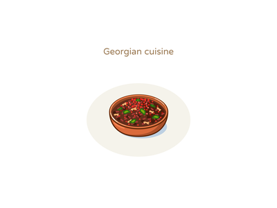 Georgian cuisine illustration icons design hot georgia cuisine food lobio foodicons icondesign icons