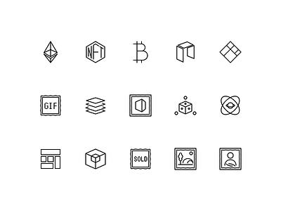 Crypto icons set iconset logo coinbase bitcoin btc ethereum sale sold cryptoart nftart token nft