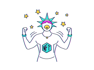 Cryptopunks illustration #3 illustration crypto power artist artwork super stars sale champion winner token nfts art nftart nft