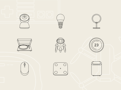Free Tech & Electronic Technology icons #3 scale smart termostat robot vinyl camera mouse icons pack svg illustration freeicons icons design freebie free devices electronic technology tech icons