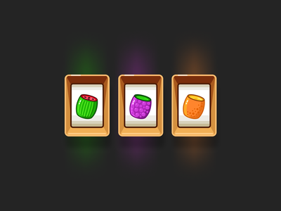 Slot Machine Icons uidesign slot design slot machine icons casino fruits game slot