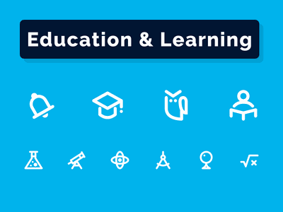 Education & Learning Icons Set educational minimal stroke outline reading lecture culture couch academy course online school student learning education iconography icondesigner iconsale icondesign
