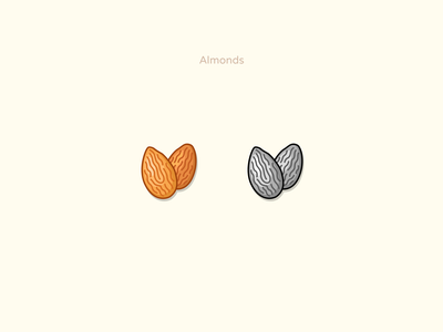 Almonds simple design forms simple design sketch artist artwork ui vectors stylized illustration vector nut almonds icondesigner icondesign iconset icons