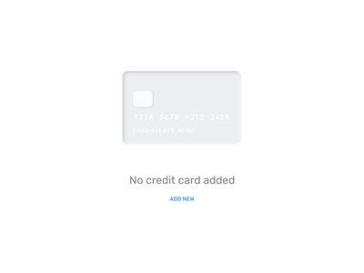 Empty state for credit card finance business ecommerce card creditcard credit state emptystate empty