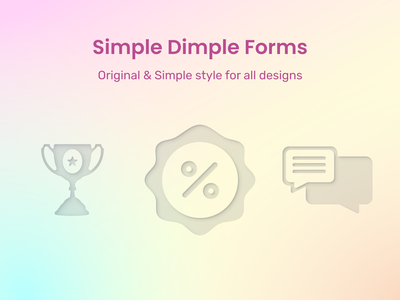Empty states page status uidesign empty screen emptystate state empty figmadesign figma freebie free message chat discount achievements awards dimple simple icons