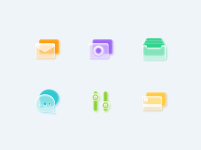 Frosted glass icon set morphism glass shadow soft vector neuomorphism style glasses frosted figmadesign icondesign icon icons