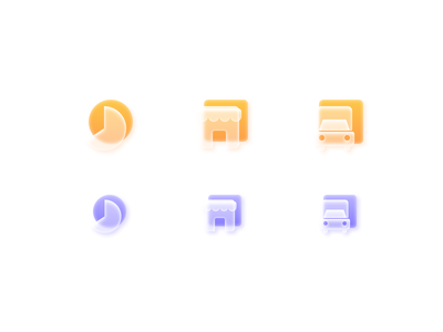 Frosted glass icon set goldicons iconpack iconset neuomorphism glassicons glass sketch figmadesign icons