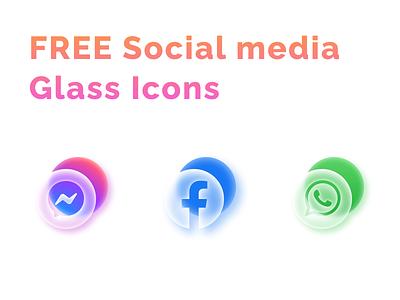 Freebies whatsapp wechat tiktok ui icon brand logos media glass icons twitter facebook figma youtube telegram zoom logo social freebies free