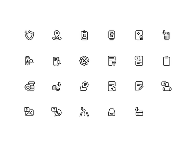 Autoparts shop icons round tyre auto car symbol line stroke outline icons