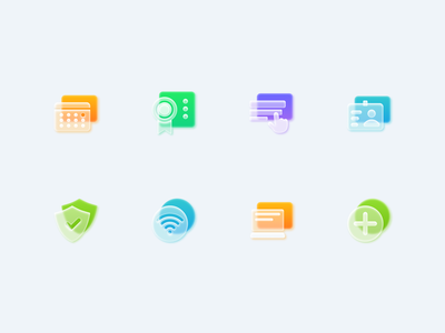 Frosted Glass Icons Set - part 2 vector figma icons glass morphism skeuomorphism clear transparent minimal shadow light basic uidesign icondesigner icondesign